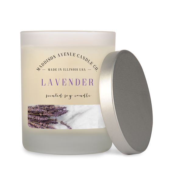 7.5 oz Frost Spa Tumbler Soy Candle by Maddison Avenue Candle Company