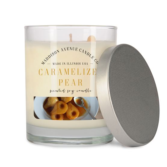 7.5 oz Clear Spa Tumbler Soy Candle by Maddison Avenue Candle Company