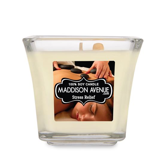 5 oz Square Flare Soy Candle by Maddison Avenue Candle Company