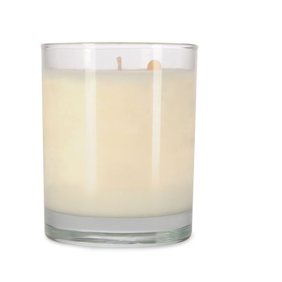 7.5 oz Clear Spa Tumbler Personalized Soy Candle by Maddison Avenue Candle Company