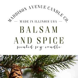 Balsam and Spice by Maddison Avenue Candle Company