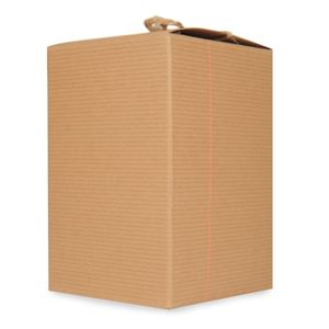 Candle Box Kraft Pinstriped (4x4x6) by Maddison Avenue Candle Company