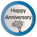 Happy Anniv Specialty Label by Maddison Avenue Candle Company