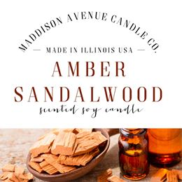 Amber Sandalwood by Maddison Avenue Candle Company