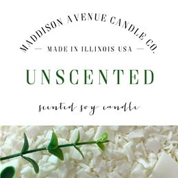 Unscented by Maddison Avenue Candle Company