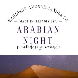Arabian Night by Maddison Avenue Candle Company