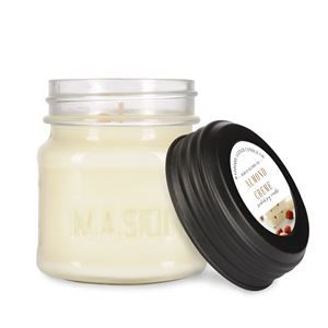 8 oz Mason Jar Soy Candle with Lid by Maddison Avenue Candle Company