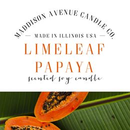 Limeleaf Papaya by Maddison Avenue Candle Company