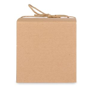 Candle Box Kraft Pinstriped (4x4x4) by Maddison Avenue Candle Company