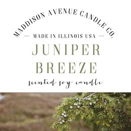 Juniper Breeze by Maddison Avenue Candle Company