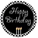 Happy Birthday Black Specialty Label by Maddison Avenue Candle Company