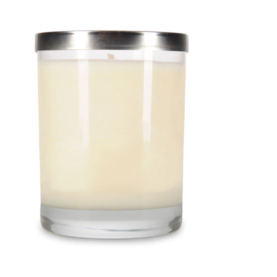 14 oz Clear Spa Tumbler Personalized Soy Candle by Maddison Avenue Candle Company