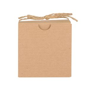 Candle Box Kraft Pinstriped (3x3x3) by Maddison Avenue Candle Company