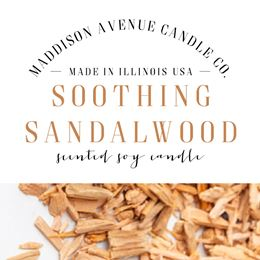 Soothing Sandalwood by Maddison Avenue Candle Company