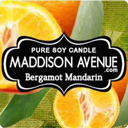 Bergamot and Mandarin by Maddison Avenue Candle Company