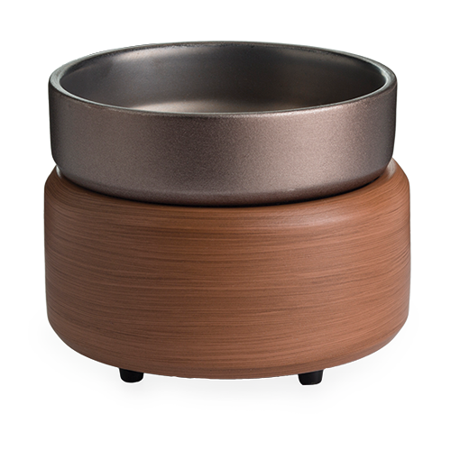 Pewter Walnut 2-in-1 Classic Tart Warmer by Maddison Avenue Candle Company