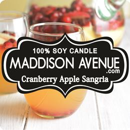 Cranberry Apple Sangria by Maddison Avenue Candle Company