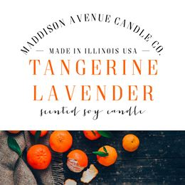 Tangerine Lavender by Maddison Avenue Candle Company