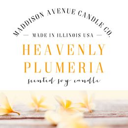 Heavenly Plumeria  by Maddison Avenue Candle Company