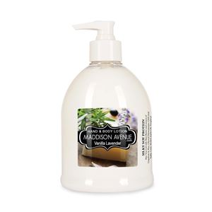 16 oz Soy Protein Hand and Body Lotion by Maddison Avenue Candle Company