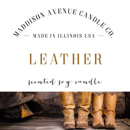 Leather by Maddison Avenue Candle Company