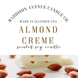 Almond Creme by Maddison Avenue Candle Company