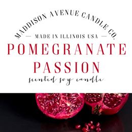Pomegranate Passion by Maddison Avenue Candle Company