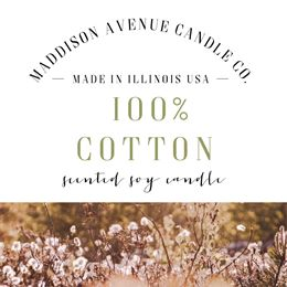 100 Percent Cotton by Maddison Avenue Candle Company